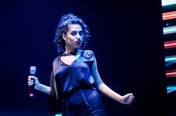 Julieta Rada fue uno de los shows de la noche y tocó junto a su hermano, Matías || Adhoc ©Javier Calvelo