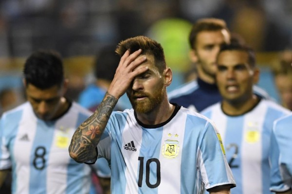 Lionel Messi tras el empate de Argentina y Perú en La Bombonera || AFP