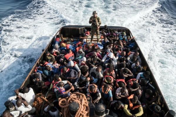 Rescate de 147 inmigrantes en Libia || AFP