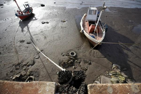 Bajante del Rio de la Plata en el puertito del Buceo en Montevideo. || Nicolás Celaya /adhocFOTOS