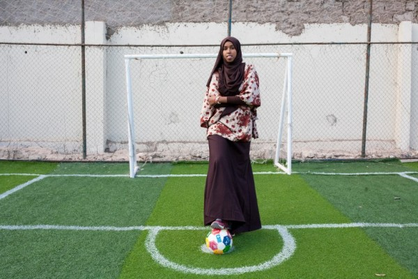 SOMALIA - Marwa Mauled Abdi, jugadora de fútbol    AFP