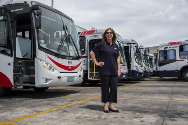 URUGUAY - Carmen Cousello, conductora de ómnibus    AFP