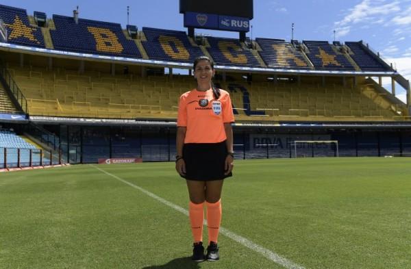 ARGENTINA - Estela Álvarez, jueza de fútbol    AFP