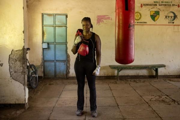 KENIA - Sarah Achieng, boxeadora    AFP