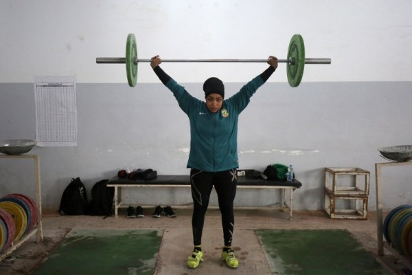 IRAK - Huda Salem, levantadora de peso    AFP