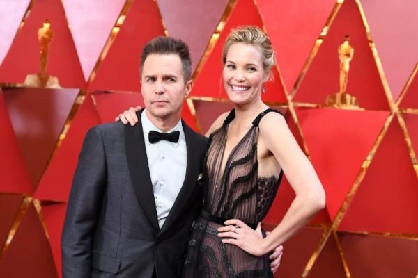 Sam Rockwell y Leslie Bibb (AFP)