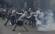 Portal 180 - Estallan disturbios en megamarcha opositora en Venezuela