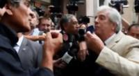 """Portal 180 - El """"ocupante ilegal"""" que increpó a Vázquez y fue """"escrachado"""" en Presidencia"""