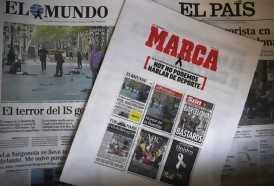 Portal 180 - Prensa deportiva de España no habla de deporte tras atentados de Barcelona