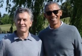 Portal 180 - Obama jugó al golf con Macri tras cumbre de economía verde