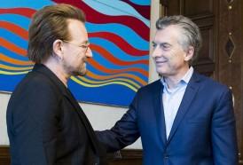 Portal 180 - Bono le preguntó a Macri por Santiago Maldonado