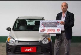 """Portal 180 - Claro entregó un Suzuki Alto 0 kilómetro al ganador de la trivia """"Más Claro que nunca"""""""