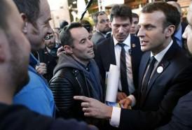 Portal 180 - Macron discutió cara a cara con manifestantes