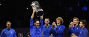 Portal 180 - Federer logra el punto de la victoria de Europa en la primera Laver Cup