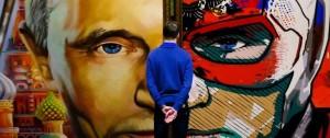 "Portal 180 - Putin de Papa Noel o de Superman en una exposición ""SuperPutin"" en Moscú"