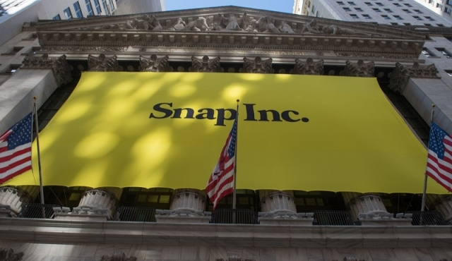 Snapchat brilló en su estreno en Wall Street
