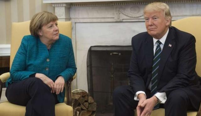 Trump y Merkel: un saludo fallido y amplias divergencias