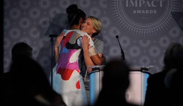 Robin Wright quiere a Michelle Obama presidenta de Estados Unidos