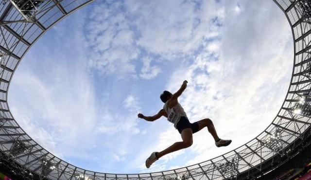 Lasa finalista de salto largo del Mundial de Atletismo