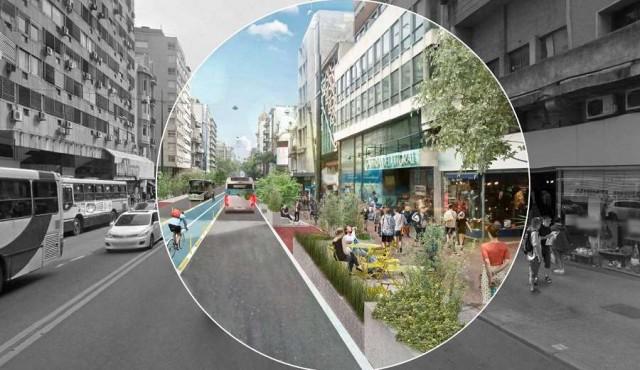 La nueva Avenida 18 de Julio: ciclovía, veredas anchas y sin autos