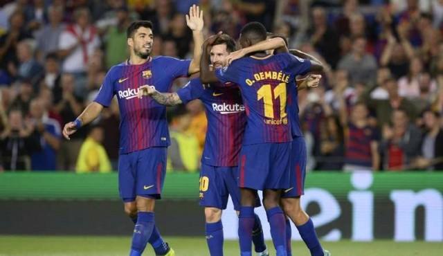 Messi guió al Barcelona para golear a la Juventus