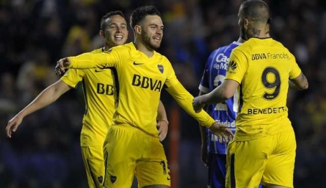 Nández anotó su primer gol en Boca