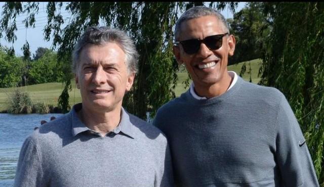 Obama jugó al golf con Macri tras cumbre de economía verde