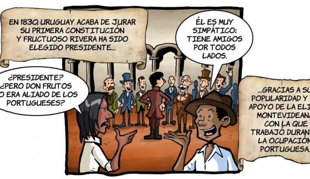 Viñetas de los primeros presidentes de Uruguay