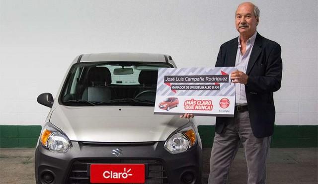 """Claro entregó un Suzuki Alto 0 kilómetro al ganador de la trivia """"Más Claro que nunca"""""""