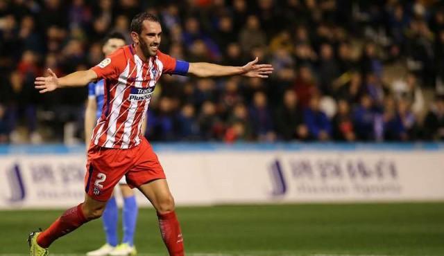 Ganó el Atlético Madrid; anotaron Godín y Diego Costa en su regreso al club