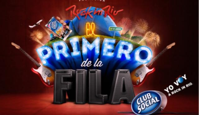 """Club Social lanzó la promoción """"El primero de la fila"""", que regala entradas para Rock in Río"""
