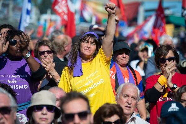 Acto del PIT-CNT por el Día Internacional de los Trabajadores || Acto del PIT-CNT por el Día Internacional de los Trabajadores, en la Plaza Mártires de Chicago. || Santiago Mazzarovich / adhocFOTOS.