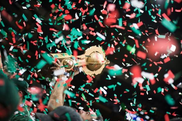 Aguada campeón || Aguada campeón de la Liga Urguguaya de Basketbol 2019 en el estadio Antel Arena. || braham Tores/ adhocFOTOS