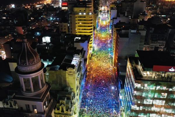 Marcha de la Diversidad por la Avenida 18 de Julio, Montevideo. || Nicolás Celaya /adhocFOTOS