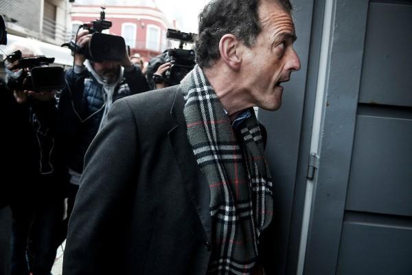 Guido Manini Ríos en el juzgado de la calle Juan Carlos Gómez de Montevideo. || Javier Calvelo / adhocFOTOS