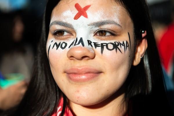 Marcha contra la reforma Vivir Sin Miedo. || Santiago Mazzarovich / adhocFOTOS