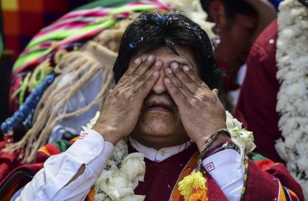 Evo Morales visitó su casa natal    Evo Morales visitó su casa natal (RONALDO SCHEMIDT / AFP)
