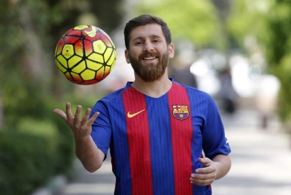 El doble iraní de Lionel Messi || AFP