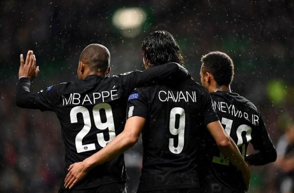 Mbappé, Cavani y Neymar en PSG || AFP