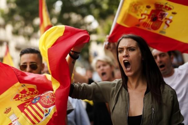 Protestas en Madrid contra la independencia de Cataluña || AFP
