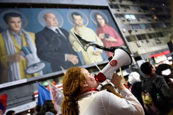 Marcha de estudiantes en reclamo de un 6% para la educación en el centro de Montevideo. || Nicolás Celaya /adhocFOTOS