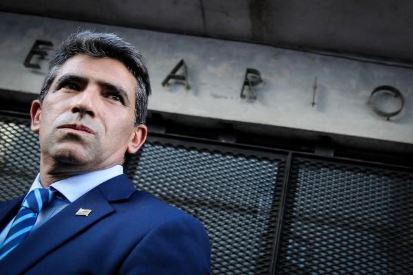 Raúl Sendic luego de la reunión con el tribunal de conducta política en la sede del Frente Amplio. || Javier Calvelo / adhocFOTOS