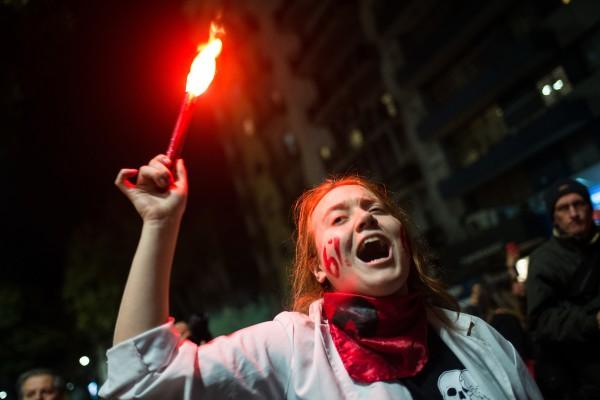 Marcha de la educación por 18 de julio. || Santiago Mazzarovich