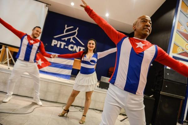Acto por el aniversario del asalto al Cuartel Moncada, en el PIT-CNT. || Santiago Mazzarovich
