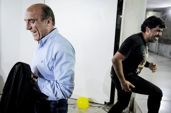 Óscar Andrade y Daniel Martínez en el acto de la