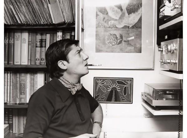 Alfredo Zitarrosa en su estudio en México. Años 1979-1982. || Autor: S.d - Archivo Zitarrosa