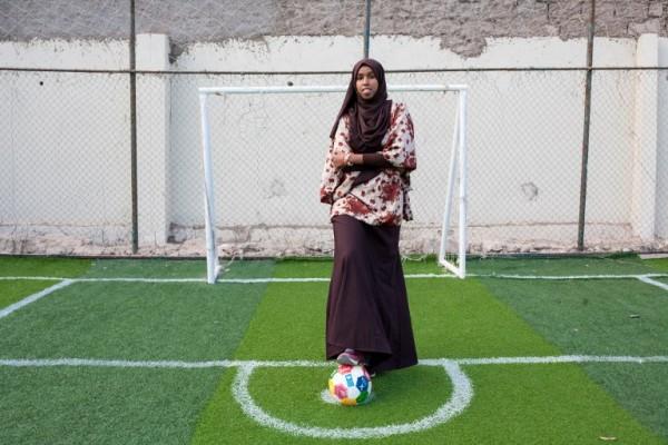 SOMALIA - Marwa Mauled Abdi, jugadora de fútbol || AFP