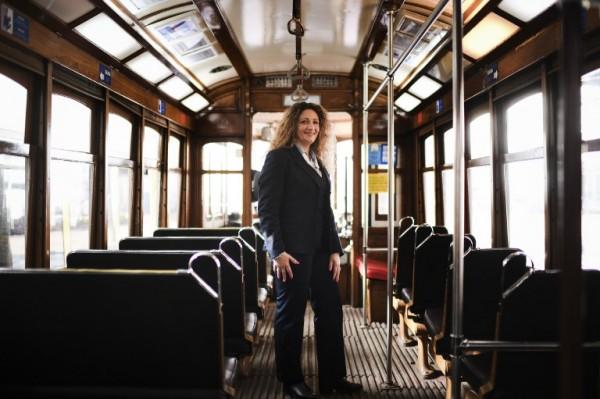 PORTUGAL - Ana Cristina, conductora de tranvía || AFP