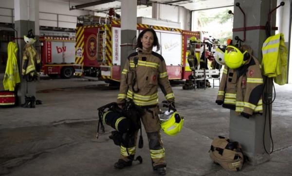 ESPAÑA - María José Martinez, bombera || AFP