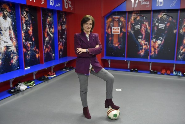 ESPAÑA - Amaia Gorostiza, presidenta del club Eibar || AFP